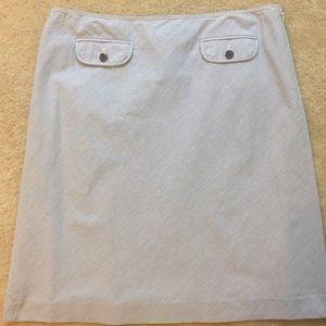 JCrew Seersucker Suit Skirt 100% Cotton